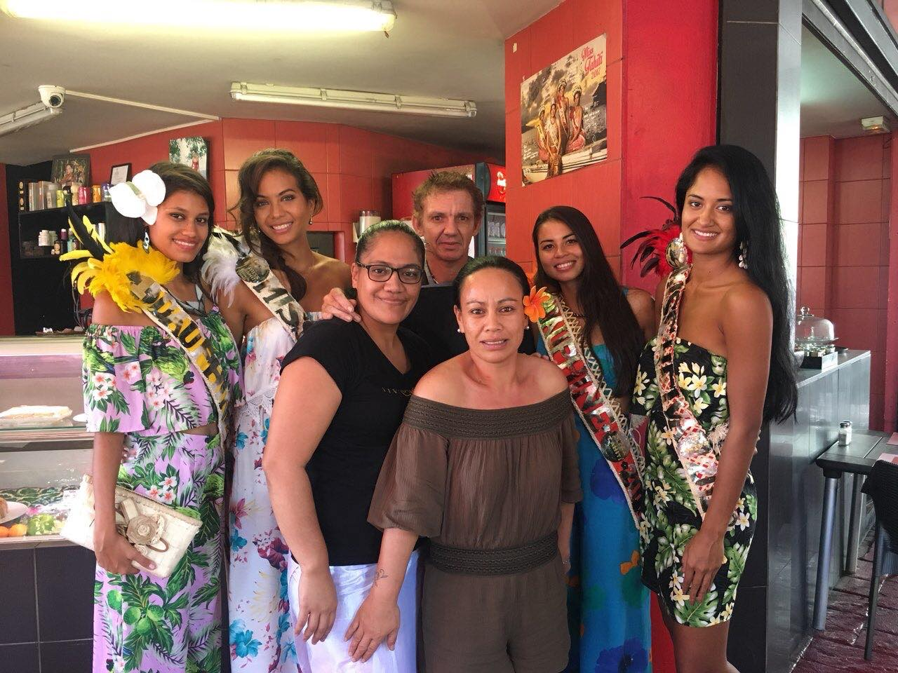 5 gourmet lunch runner up tahiti pageant French papeete Miri Tea