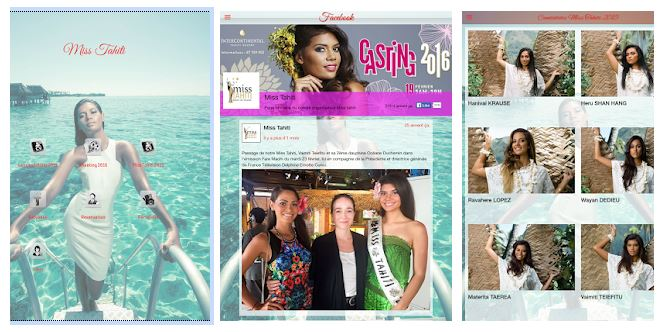 Application Miss Tahiti